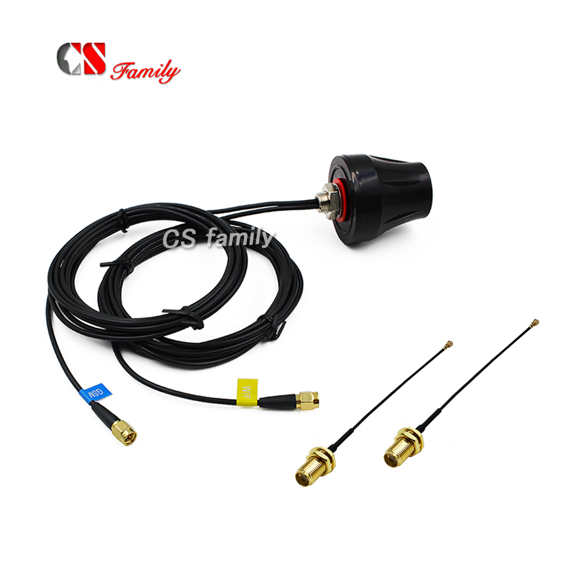 1pc IP67 3G WiFi Outdoor Car Antenna Pigtails,GSM WIFI ANTENNA with 2pcs ipex to sma cable 100mm