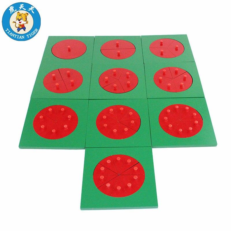 Bébé Montessori mathématiques apprentissage éducation jouets en bois Division circulaire préhension Puzzle conseil