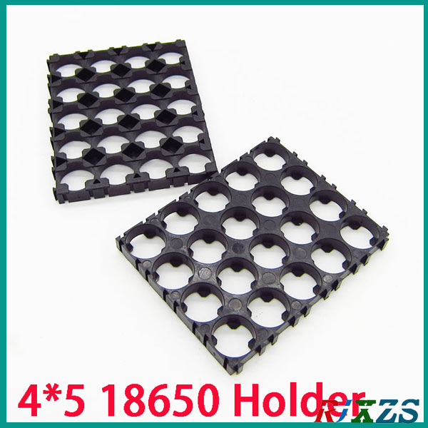 2pcs/alot 4*5 18650 Battery Holder Bracket Cylindrical Battery Holder 20pcs18650 Holder Safety Anti Vibration Plastic Case Box Latest Fashion