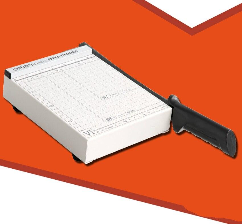 DELI Paper Cutting Machine Manual Steel Paper Cutter Office Paper-cutter Photo Paper Cutting Machine Office Cutting Supplies