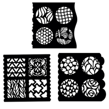 Square Circle Pattern Flowers Hearts Leaves Plastic Stencils For DIY Scrapbooking Paper Cards Crafts Drawing Sheets Templates