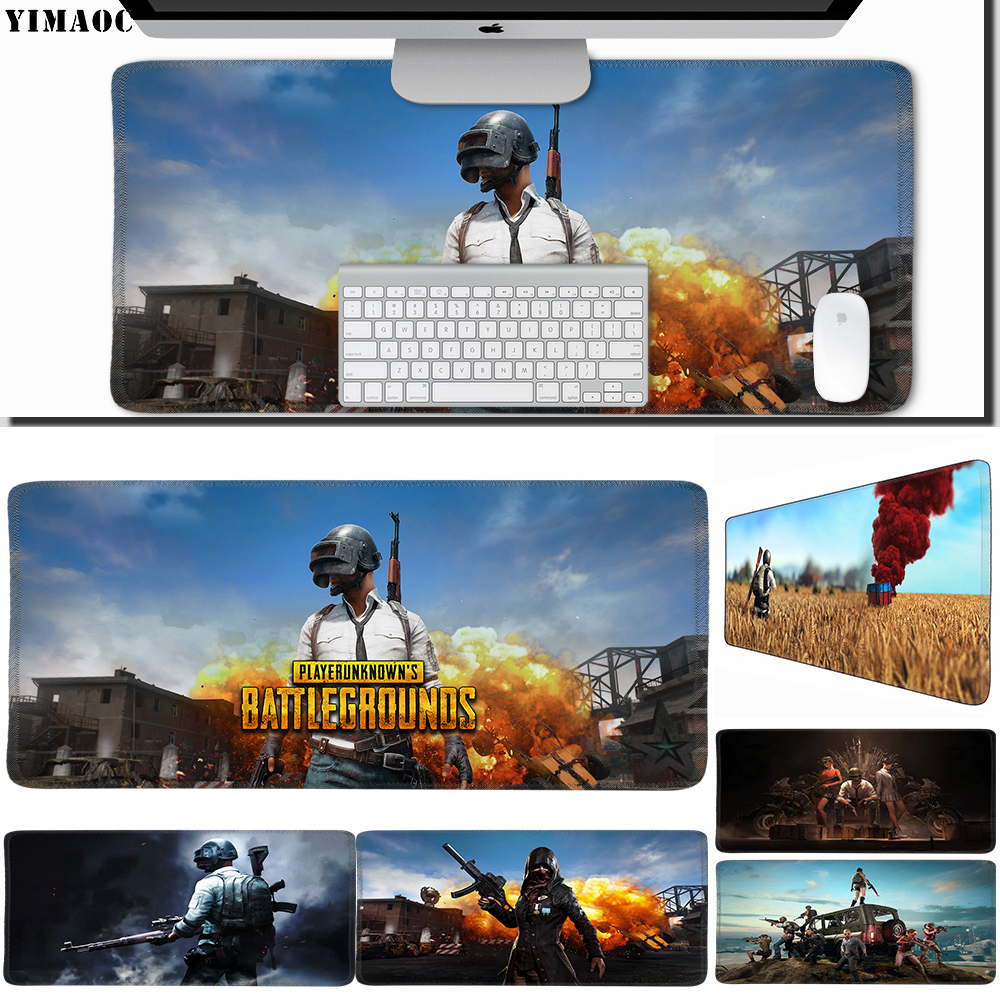 Honesty Yimaoc 40*90 Cm Large Mouse Pad Gamer Mousepad Rubber Gaming Desk Mat With Locking Edge Pubg Strengthening Sinews And Bones Mouse & Keyboards Mouse Pads