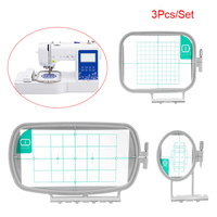 3pcs/set Multifunction Embroidery Frame Household Darning Hoop Parts Set Sewing Machine J2Y