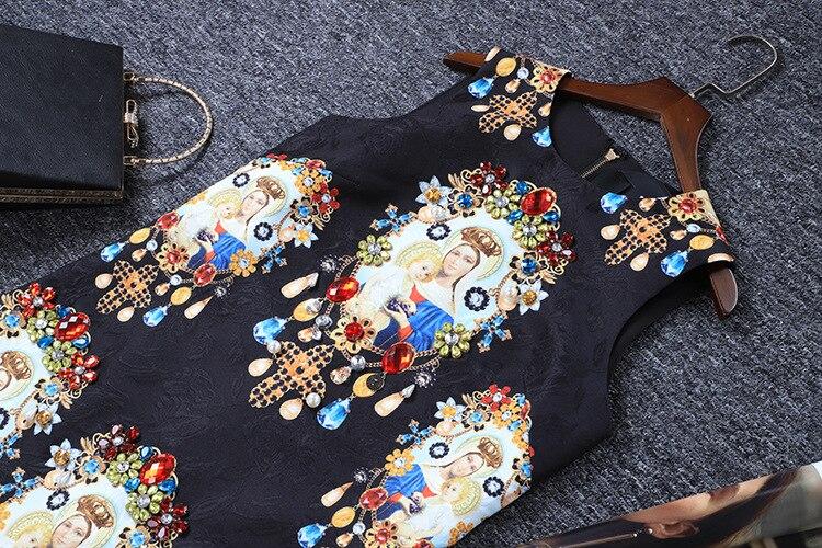 Noire Noir De Perles Ange Piste Robe Fête Court Qualité 2019 Femmes Sans Manches Mode Chemise D'été Imprimer Qyfcioufu Tenue wUtYRq6