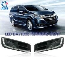 2PCs/set Super Bright LED Daylight Daytime Running light For HONDA ODYSSEY 2015