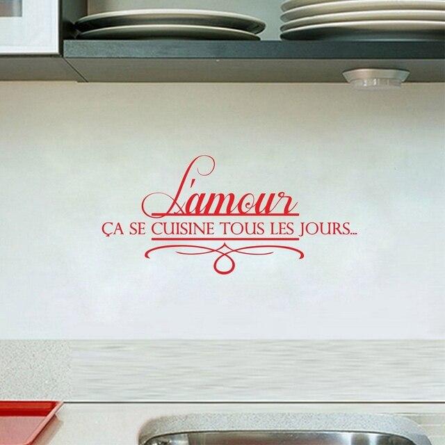 Autocollants muraux de cuisine française | Autocollants muraux en vinyle pour les citations de cuisine française, décoration moderne pour la maison française
