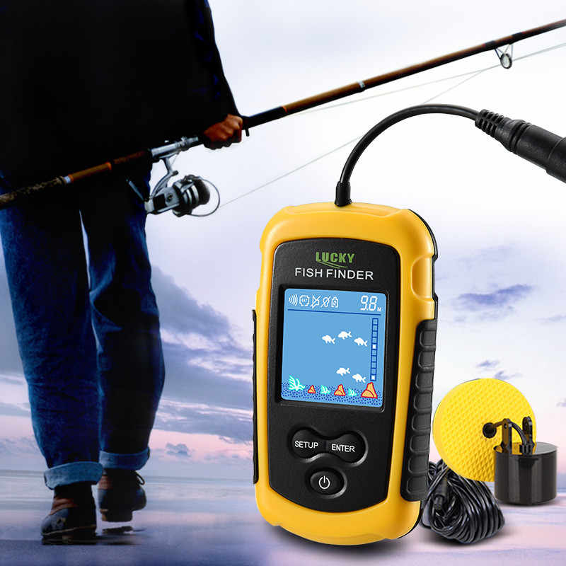 Sonar Fish Finder ffc1108-1 With Color LCD Water Depth FindFish Echo Sounder For Ice Ocean Fishing Deeper Bite Alarms FishFinder