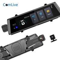 Camlive V6 10 3g Android 5,0 зеркало автомобильные видеорегистраторы HD1080P двойной камеры видеорегистратор gps Bluetooth навигация видеорегистратор регистр