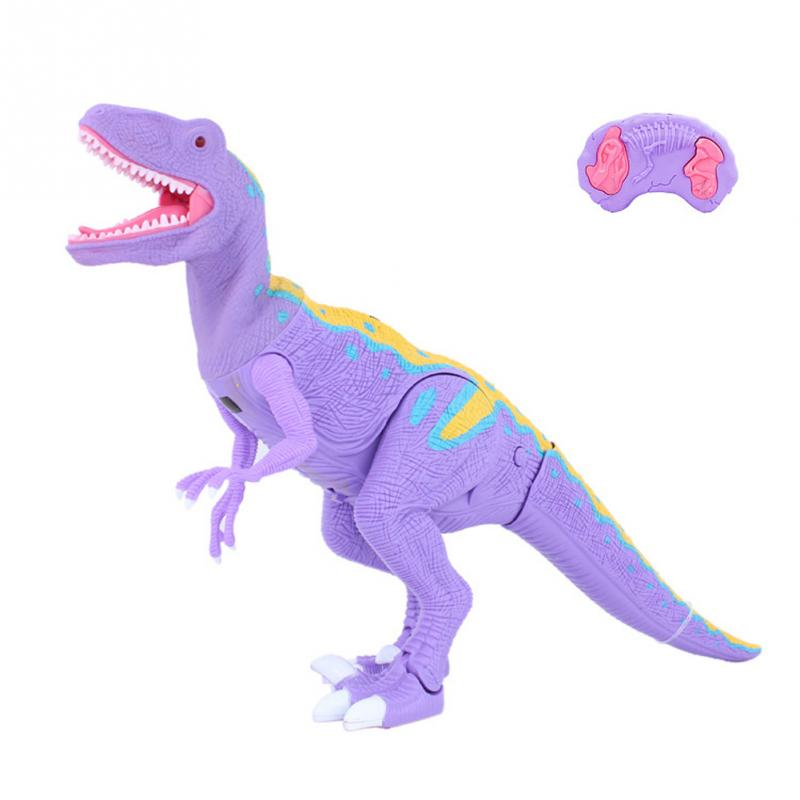 Funny RC Animal Toy Remote Control Walking Dinosaur Toys with Shaking Head Light Up Eyes and Sounds Gifts For Kids presidential donald trump doll shaking head toys car oranment toy for kids