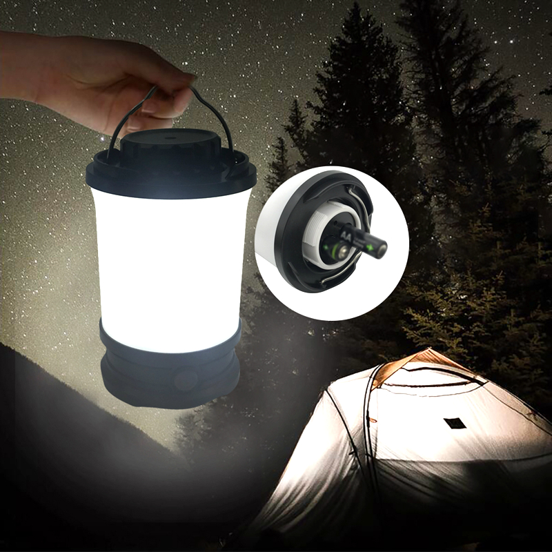 MingRay high quality Camping Lantern 48 LED 500 lumen IP65 AA battery ultra bright portable Tent Light lamp with handle hook
