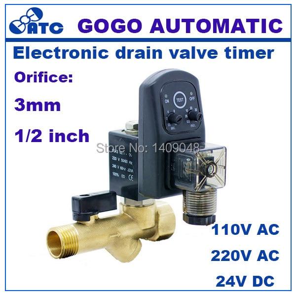 Gogo Hohe Qualität 1 elektrische Ablauf Timer 24 V Magnetventil Wasser Controller Ventil Messing 2 Way Kompressor Automatische Ventil Ventil Heimwerker