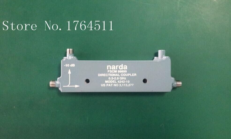 [BELLA] Narda 4242-10 0.5-2.0GHZ -10dB Coaxial Directional Coupler SMA