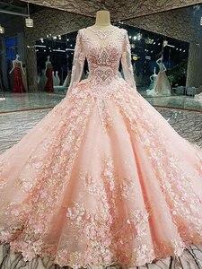Image 3 - AIJINGYU 2021 lüks kristal köpüklü elmas prenses yeni sıcak satış elbisesi v yaka resmi gelin elbiseler düğün elbisesi WT122