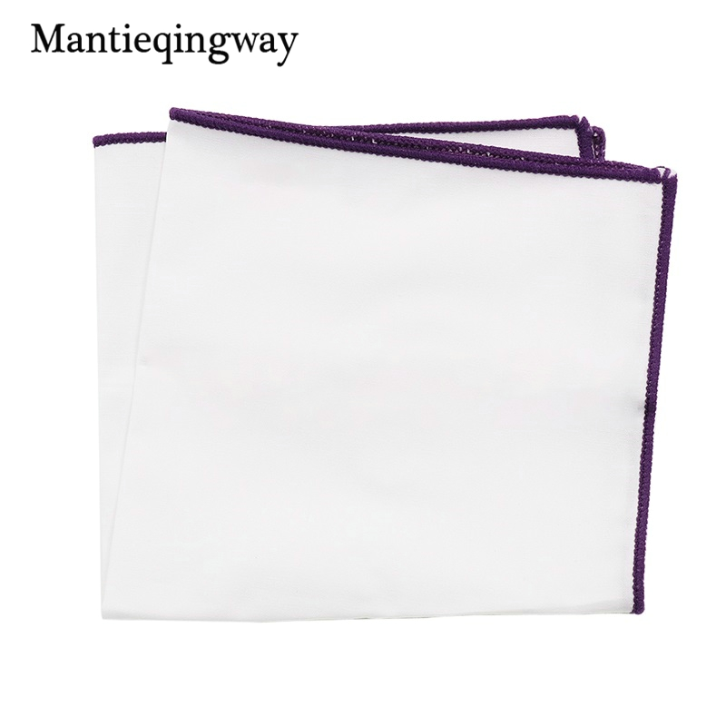 Mantieqingway Handkerchief Solid Color Pocket Square For Men Suit Wedding Party Hankies Homme Casual Square Hanky Chest Towel