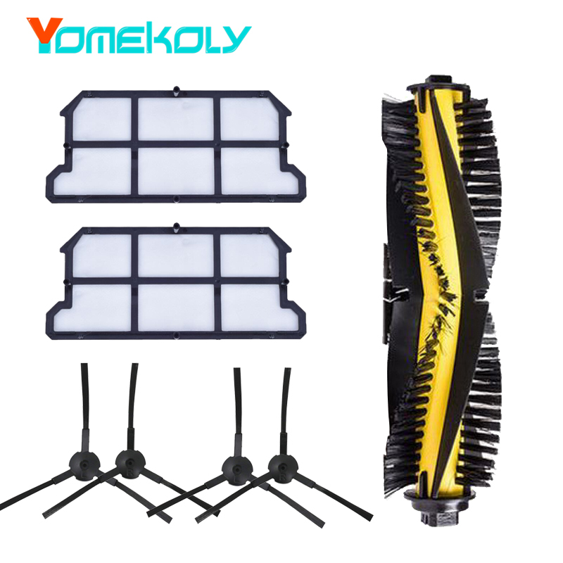 7pcs Replacement Accessories for ILIFE v7 v7s v7s pro Robot Vacuum Cleaner Spare Kit Dust Hepa Filters Side Brush Main Brush Set все цены