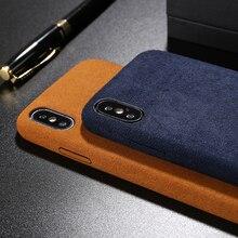 Lüks Anti-parmak izi Dönüş kürk kapak iphone için kılıf 5 5 S SE 6 artı 7 7 artı 8 8 artı X XR XS Max Yumuşak Peluş deri telefon...