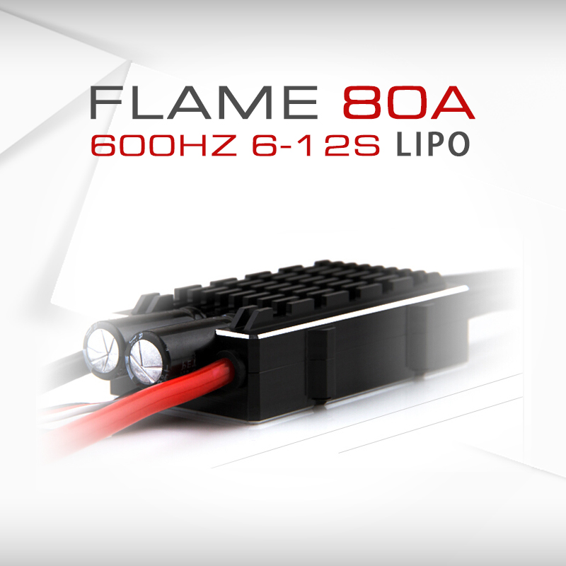 1PC FLAME 80A <font><b>HV</b></font> <font><b>ESC</b></font> T-MOTOR U10 Plus U11 U12 Motor 600HZ 6-12S Square Wave Waterproof Electric Speed Controller f RC Multirotor image