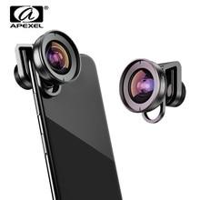 Apexel HD 110 градусов широкоугольный объектив видеокамеры для двойной линзы один объектив iPhone, пиксель, samsung Galaxy все смартфоны для xiaomi