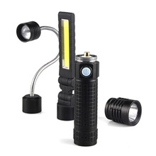 3 Files Black XM-LT6 Flashlight LED Tactical Flash COB Work Light Camping Hunting Night