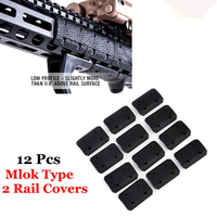 ArmyTac Tactical Mlok Type 2 Rail Covers eMag Pul TYPE For M lok SLOT SYSTEM Rail Panel 12 Pcs For Outdoor Hunting Wargame Mount