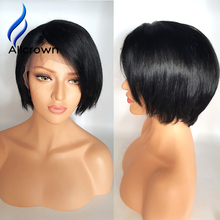 Alicrown Short Bob Cut Wigs With Baby Hair Unprocessed Virgin Brazilian Short Human hair Wigs Bob Wig For Black Women