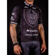 Men's Summer Cycling Jersey Suit 2018 Black Short Sleeve Pro Team Rock Racing Cycling Clothing Set Bbigliamento Ciclismo Estivo