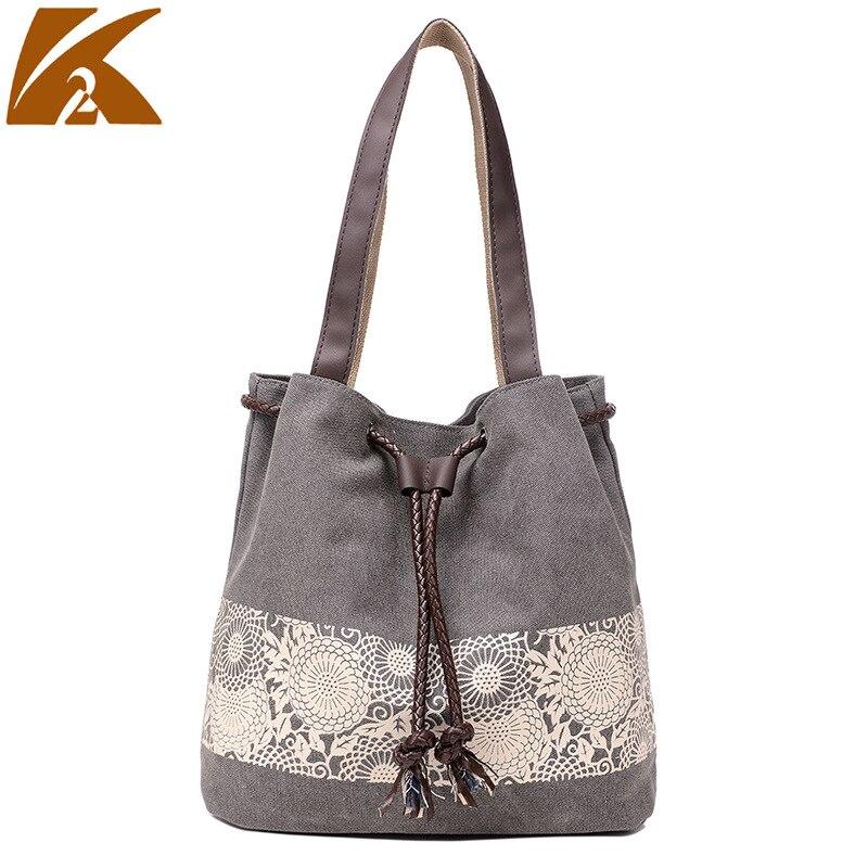 Canvas Drawstring Bucket Bag Shoulder Handbags Lady Letter Bucket Tote Shoulder Crossbody Bag YM146