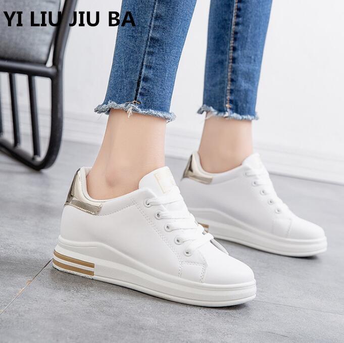 hot sale Fashion spring Women Shoes Flats PU leather Shoes Platform walking Women Lace Up Non-slip Comfortable Shoes women **210
