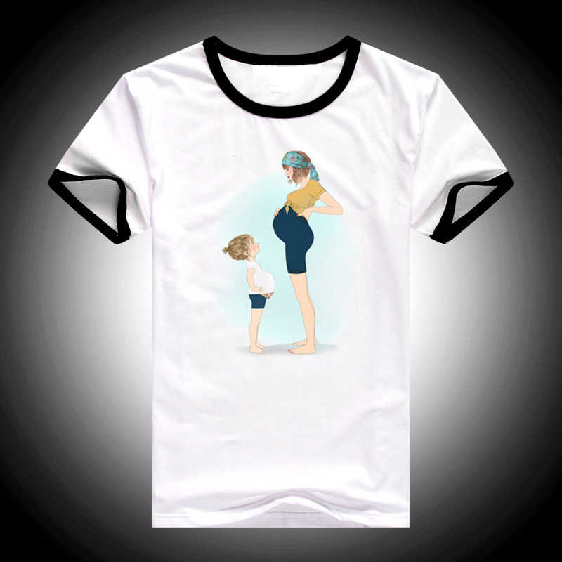 Baru 2019 Vogue T Shirt Wanita Super Mom Tshirt Femme Harajuku Kawaii Putih T-shirt Wanita Korea Fashion Pakaian