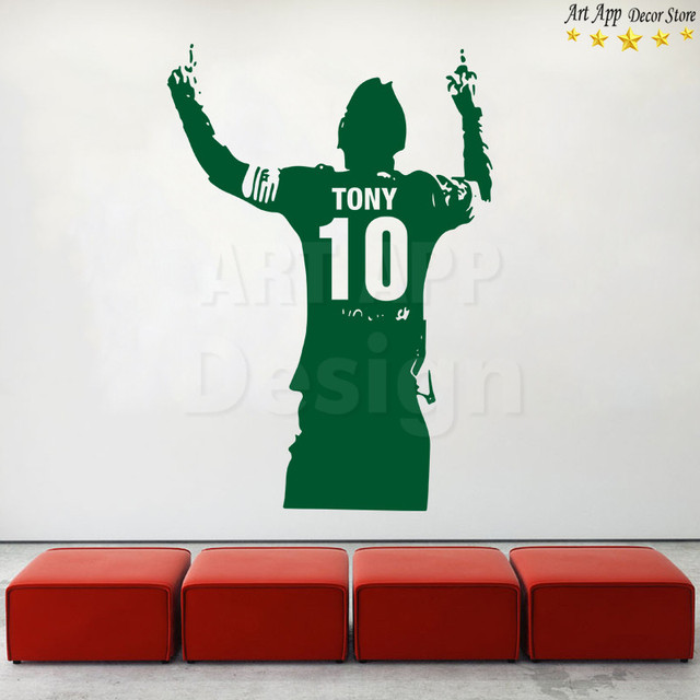 Art design football player cheap home decoration PVC wall sticker removable vinyl house decor soccer sports  room decals