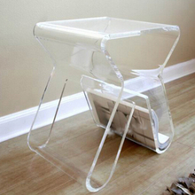 Free Shipping Clear Acrylic End Table