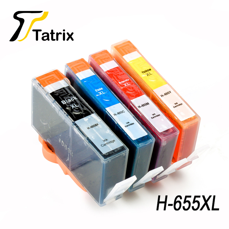 Tatrix Compatible 655 Ink Cartridge Replacement for <font><b>HP</b></font> 655 HP655 for Deskjet Ink Advantage 3525/4615/4625/5525/<font><b>6520</b></font>/6525 Printer image