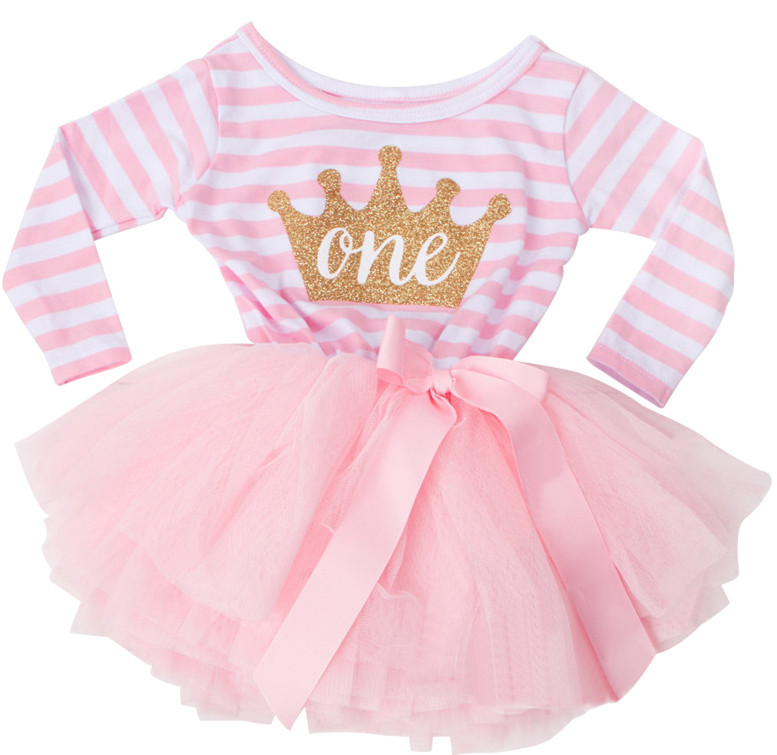 eafae13087908 Headband Legging 4 pcs Baby Birthday Outfits for 1st Birthday girls First  birthday Gift Party Wear for 1 Year Baby Girl Dresses