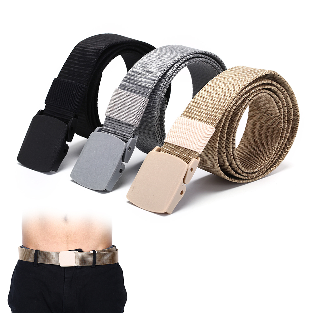 1pc Fashion Automatic Buckle Army Belts Strap 125cm Outdoor Military Tactical Belt Multicam Molle Alloy Buckle Nylon Waist Belts Apparel Accessories