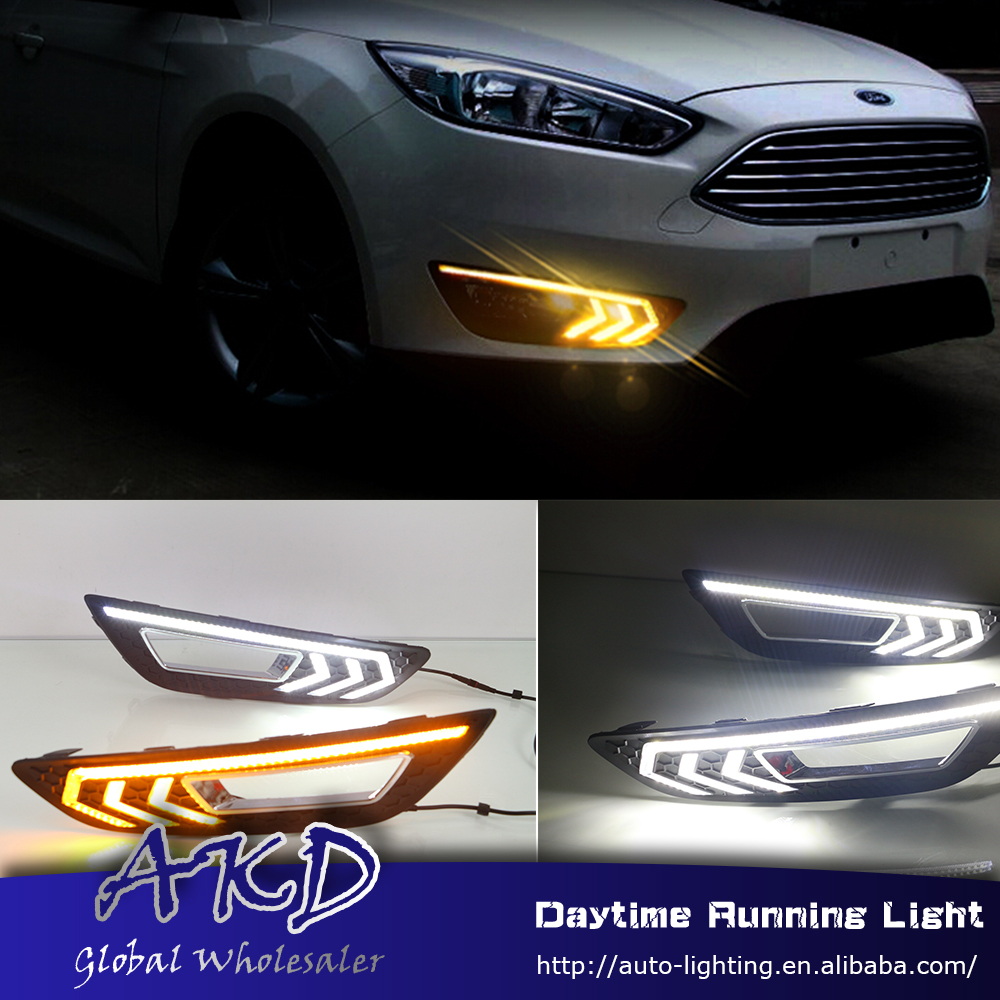 AKD Car Styling for Ford Focus 2015-2017 LED DRL for New Focus Front Led Drl Running Light Fog Light Parking Accessories akd car styling for kia sportage r drl 2014 new sportager led drl korea design led running light fog light parking accessories