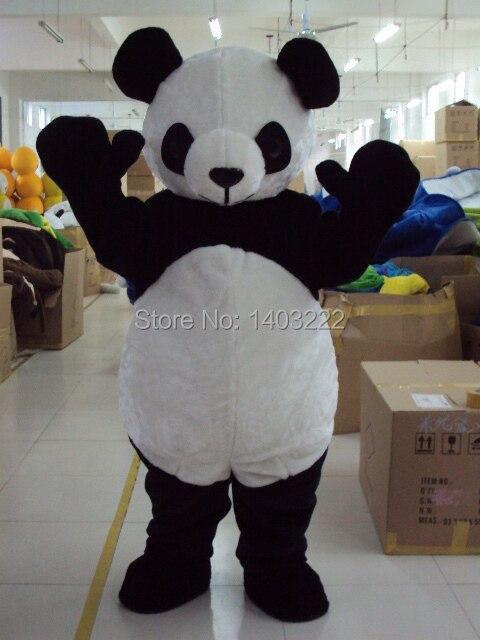 Usine vente directe nouveau mariage Panda ours mascotte Costume fantaisie taille adulte livraison gratuite