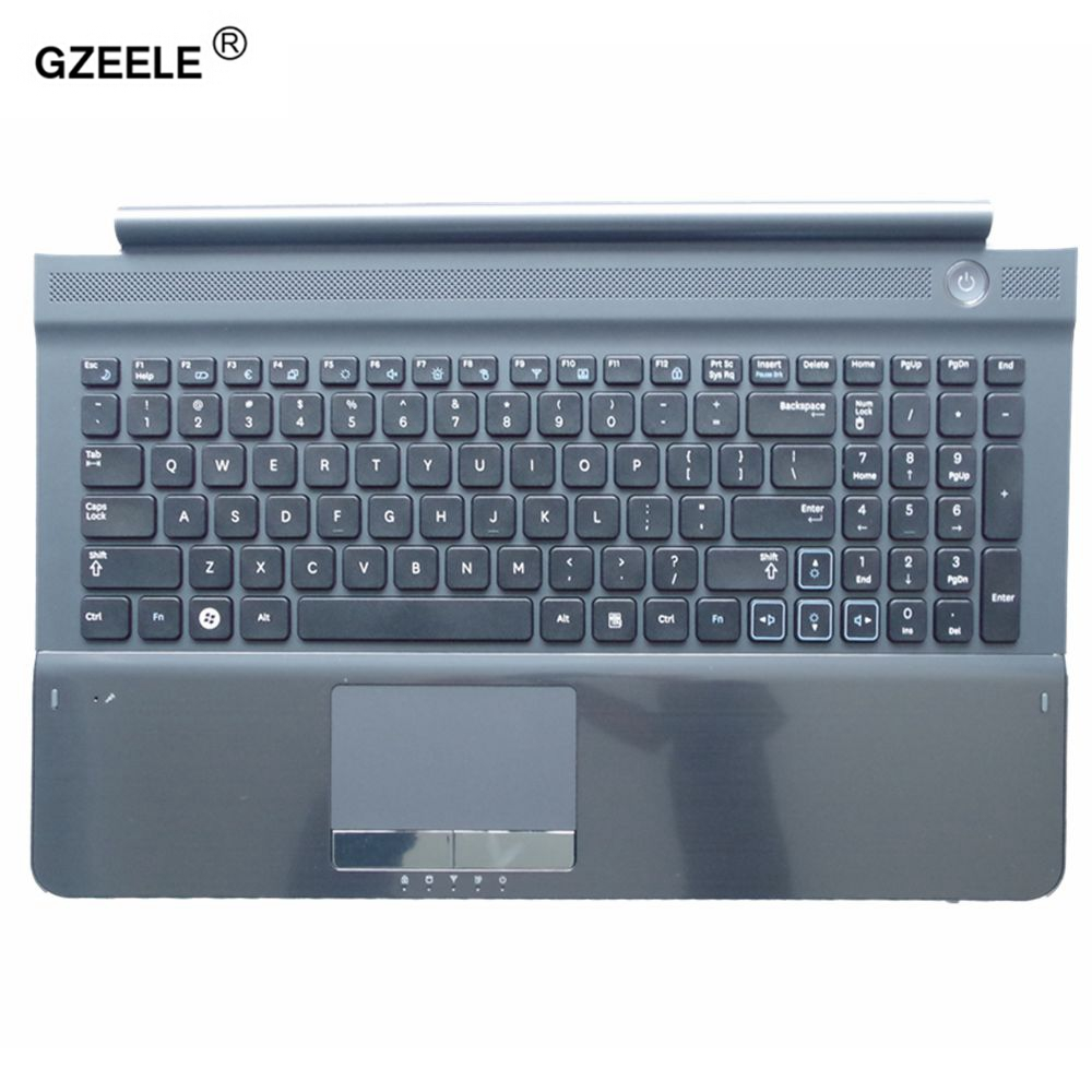 GZEELE New US Laptop Keyboard With C Shell For Samsung RC512 RC510 RC520 Topcase Housing Palmrest With Touchpad And Speaker