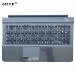 Novo teclado dos eua com c capa para samsung rc512 rc510 rc520 topcase habitação palmrest com touchpad e alto-falante preto