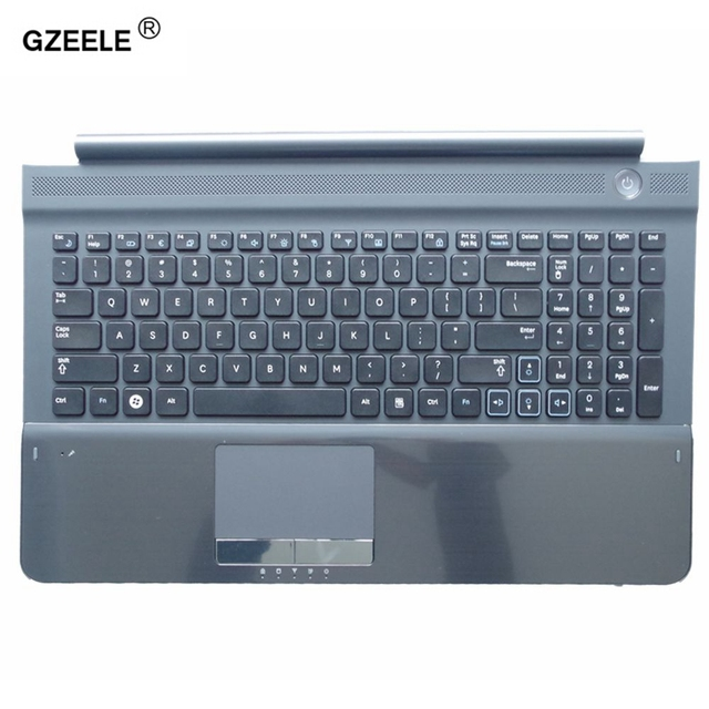 New US keyboard with C shell COVER for samsung RC512 RC510 RC520 Topcase Housing Palmrest with touchpad and Speaker Black
