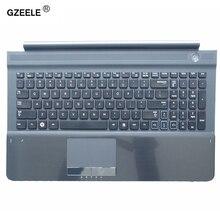 Novo teclado dos eua com c capa para samsung rc512 rc510 rc520 topcase habitação palmrest com touchpad e alto falante preto