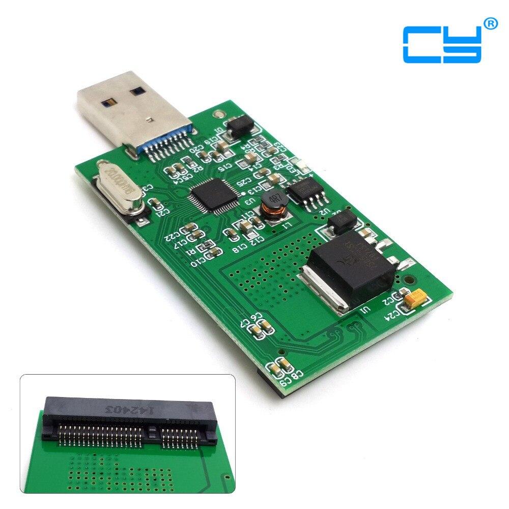 Mini PCI-E mSATA to USB 3.0 External SSD PCBA Conveter Adapter Card with Case