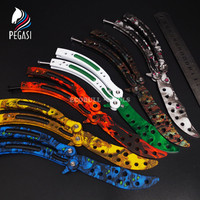 PEGASI CS GO Training Knife Butterfly Counter Strike Claw Karambit Game Folding Rainbow Trainer Knive Dull Blade No Edge