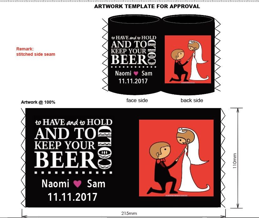 ร้อนขาย Stubby ผู้ถือโลโก้ที่กำหนดเอง/รูปแบบการพิมพ์ส่วนบุคคลเบียร์สามารถ Coolers ของคุณเย็นสำหรับงานแต่งงาน-ใน กระเป๋าเก็บความเย็น จาก สัมภาระและกระเป๋า บน AliExpress - 11.11_สิบเอ็ด สิบเอ็ดวันคนโสด 1