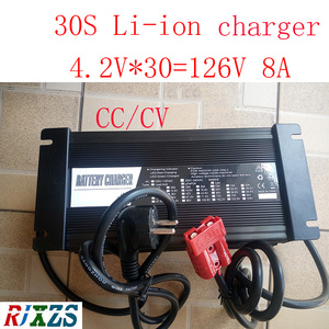 Image 1 - 126V  8A charger for 30S lipo/ lithium Polymer/ Li ion  battery pack   smart charger support CC/CV mode  4.2V*30=126V