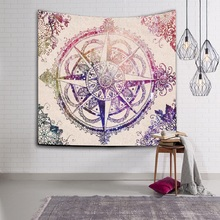 WLIARLEO NEW Bohemian Mandala Tapestry Printed 3D Wall Hanging Wall Decorated Beach Towel wall carpet tapiz pared 150x130cm