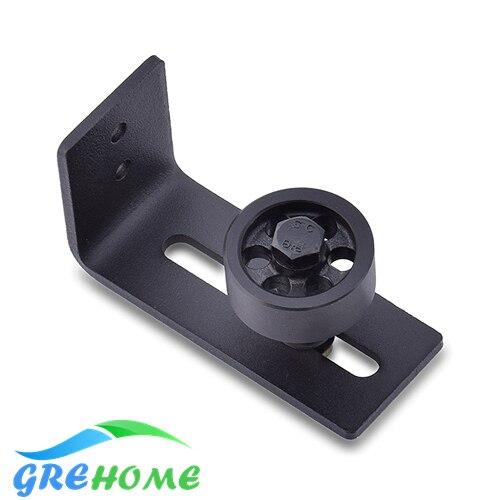 цена Carbon steel Adjustable Black Powder Coated Bottom Floor Guide Stay Roller Barn Door Hardware