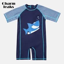 Rashguard Swimsuit Beach-Wear UPF Baby Charmleaks One-Piece Boy's Child 50 Short-Sleeve