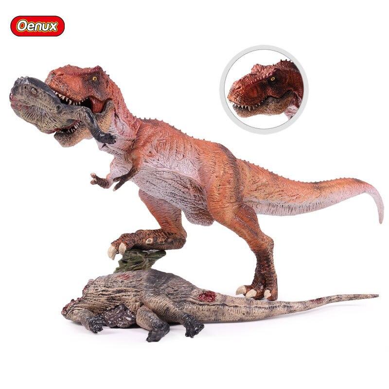 Oenux jurássico clássico carnívoro rei t-rex tiranossauro rex dinossauro corpo modelo figura de ação brinquedo educativo