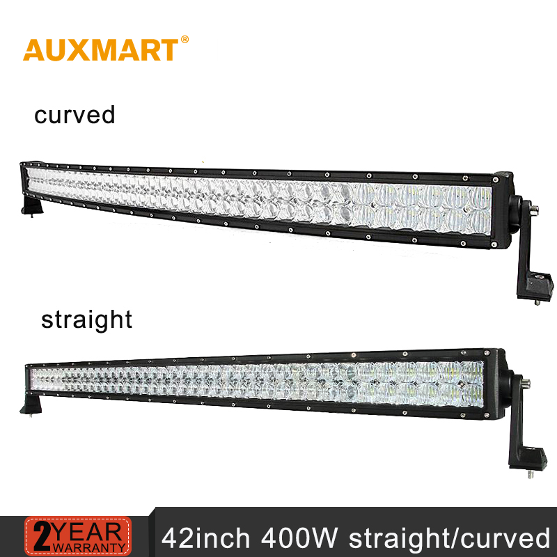 Auxmart 42inch 400w CREE 5D Chips LED font b Light b font Bar Curved Straight Combo
