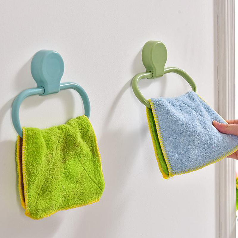 ABS Towel Ring Towel Holder Storage Rack Shelf For Scarves Bathroom Kitchen Organizer Bath Towel Bar Home Decoration